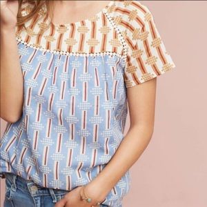 Anthro Short Sleeve Kopal Chiara Top